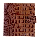 Визитница натуральная кожа, коричневый кайман