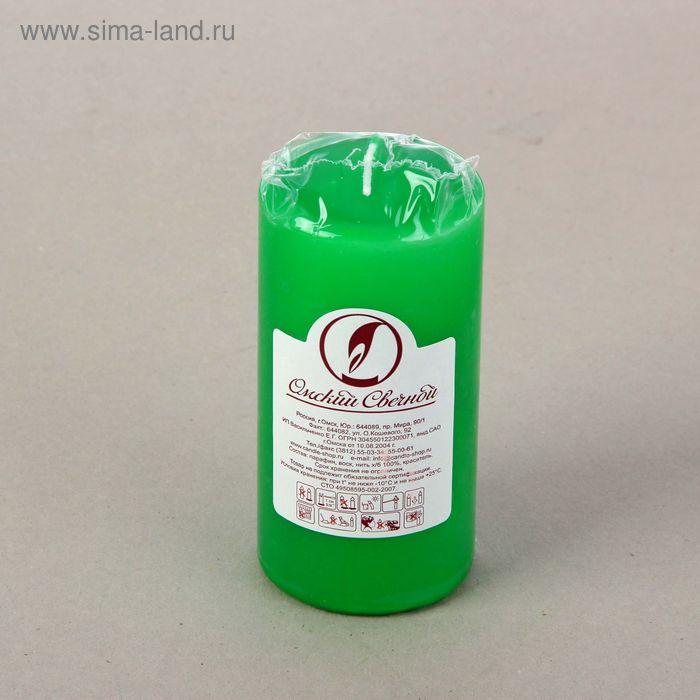 Свеча классическая 6х12,5 см, зеленая
