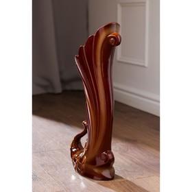 """Ваза напольная """"Жар-птица"""" коричневая, 50 см, микс - фото 1702439"""