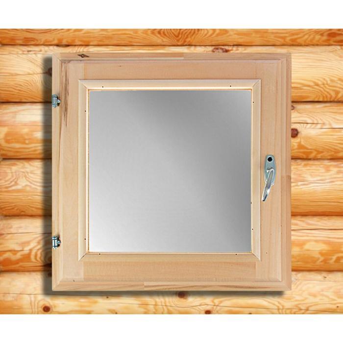 Окно, 60×60см, двойное стекло, из липы - фото 3446508
