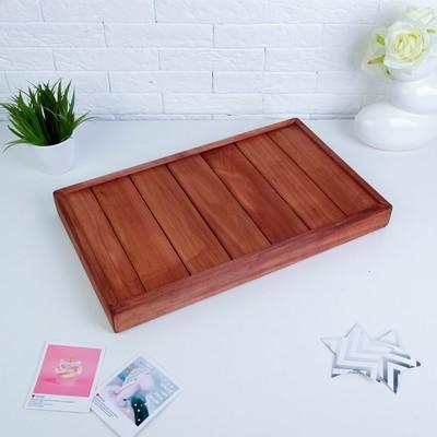 """Столик для завтрака складной, 50×30см, морёный, """"Добропаровъ"""""""