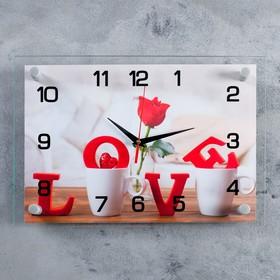 Часы настенные прямоугольные 'Любовь'  25х35 см микс Ош