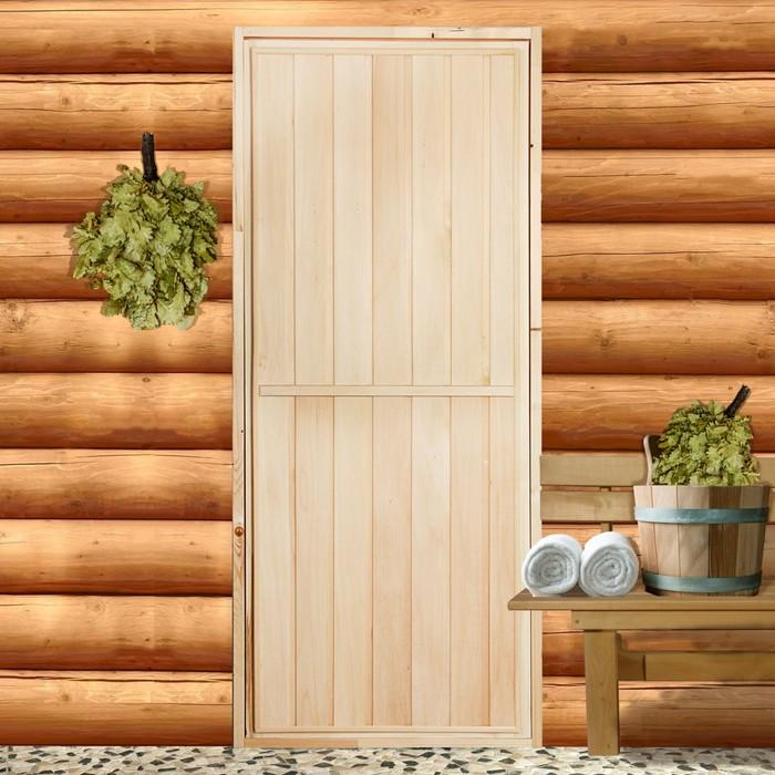 Дверь глухая, липа, 170 х 70см