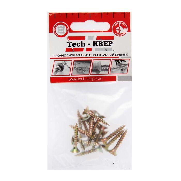 Universal self-tapping screws TECH-KREP, shuzh, 4.5h25 mm, yellow zinc, flush, 18 pcs.