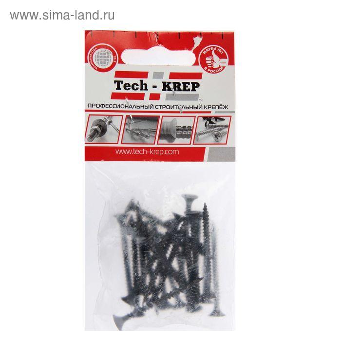Саморезы по металлу TECH-KREP, ШСГМ, 3.5х45 мм, оксид, частая резьба, 22 шт.