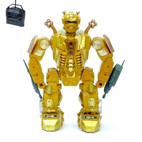 """The robot is radio-controlled """"Fighter"""", light and sound effects"""