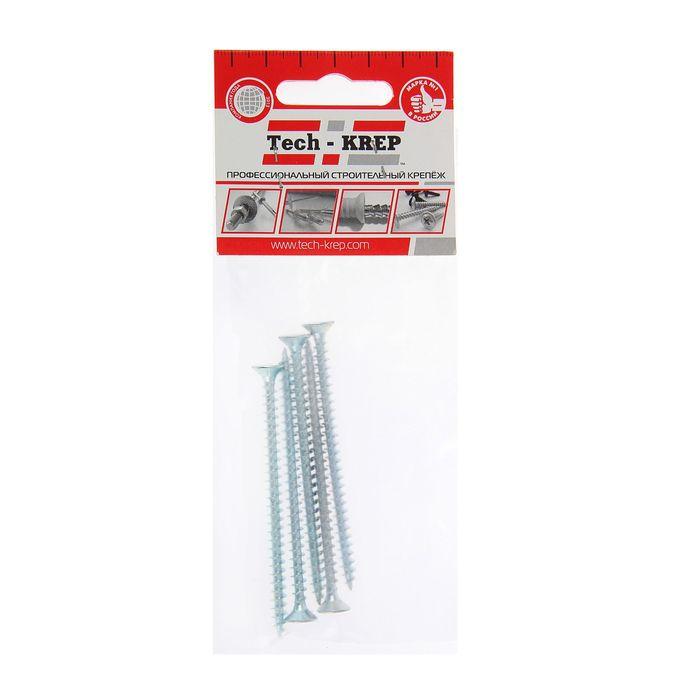 Universal self-tapping screws TECH-KREP, shuc, 5h80 mm, zinc, potay, 5 pcs.