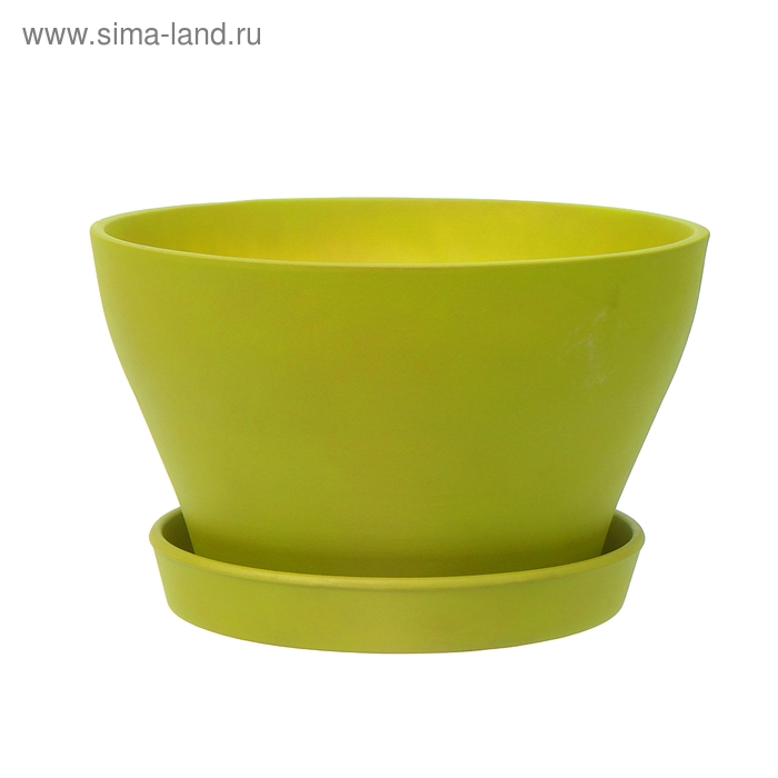 """Кашпо """"Ксения"""" бокарнея, матовое, салатовое"""