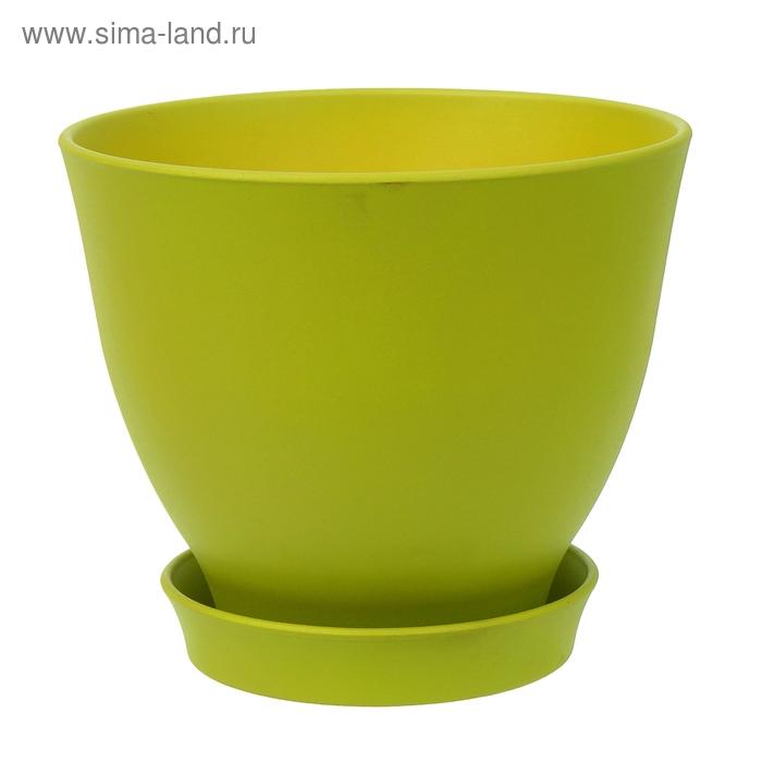 """Кашпо """"Ксения"""" глянец, зелёное, 7,5 л"""