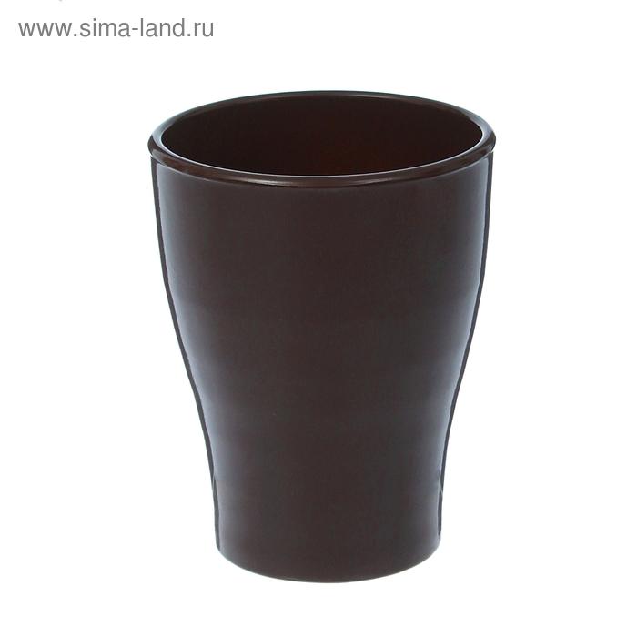 """Кашпо """"Ингрид"""" орхидейница, шоколадное, глянец, 1,3 л"""