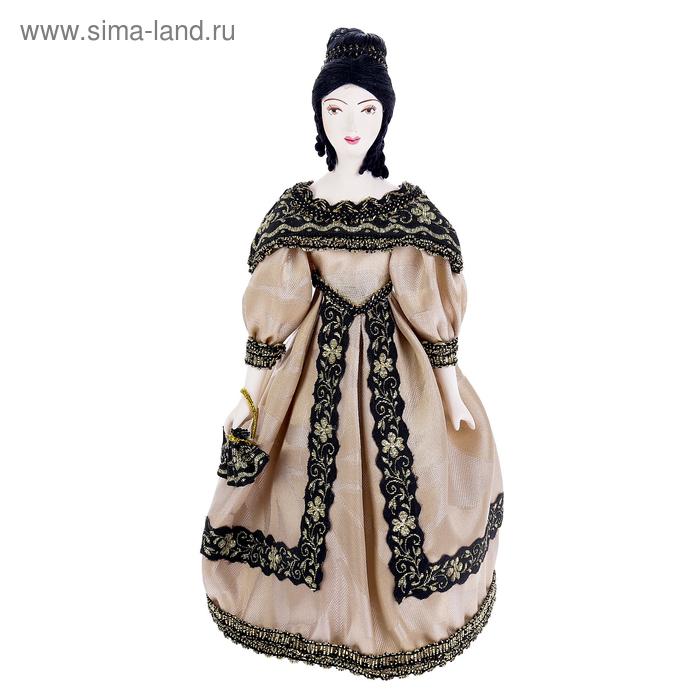 """Сувенирная кукла """"Дама в бальном платье с веером. 1830-е г. Петербург"""""""
