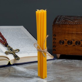 """A set of candles Church """"Church of Christ"""" for prayer at home, paraffin wax, 12 PCs"""