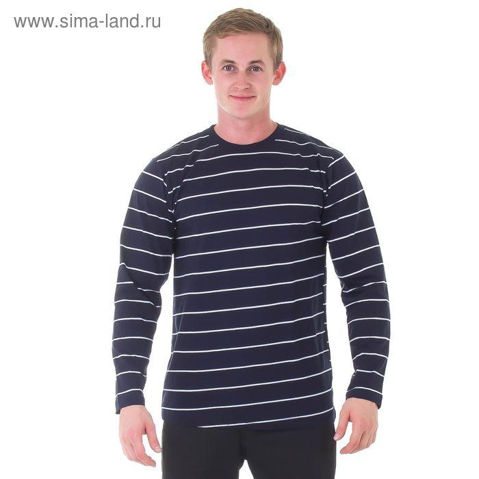 Фуфайка мужская, размер 56, цвет синий (20457)
