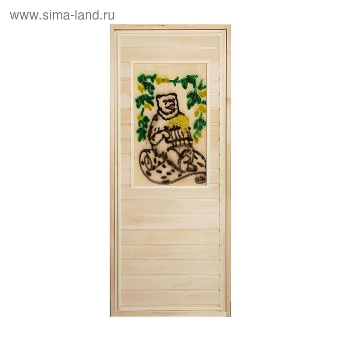 Дверь глухая с резной вставкой 2D, липа, 170 х 70см