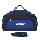 Сумка-трансформер дорожная, 1 отдел, 3 наружных кармана, длинный ремень, чёрный/синий