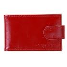 Кредитница на кнопке, 1 ряд, 18 листов, глянцевый, красный