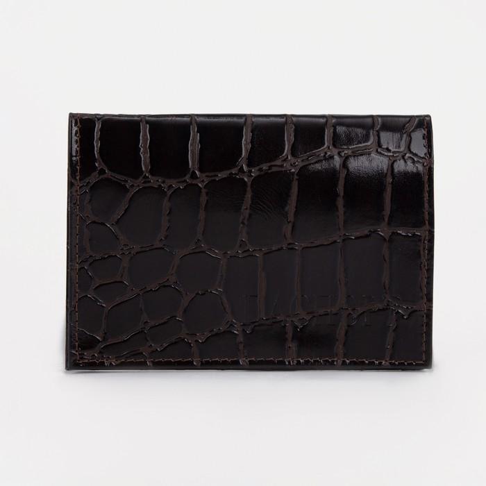 Обложка для паспорта, коричневый скат