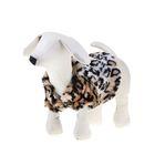 Шубка леопардовая для собак, (ДС=19 см, ОГ=31 см, ОШ=22 см) XS