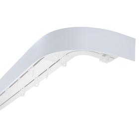 Карниз двухрядный «Ультракомпакт», 180 см, с декоративной планкой, цвет белый