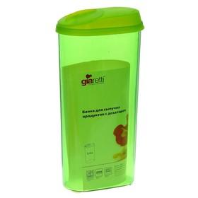 Банка для сыпучих продуктов с дозатором 2,4 л, цвет МИКС