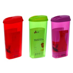 Jar for bulk products with a dispenser 2.4 l, color MIX