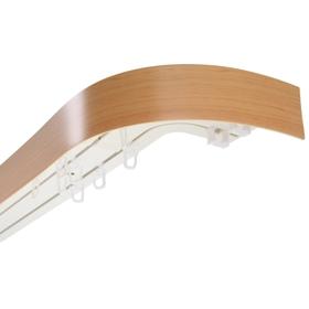 Карниз трёхрядный «Ультракомпакт», 300 см, с декоративной планкой, цвет бук