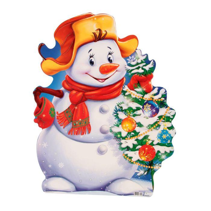 Трансформеры скрапбукинг, открытка с елкой и снеговиками