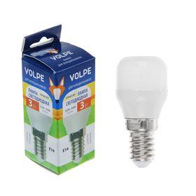 Лампа светодиодная Volpe, Е14, 3 Вт, 220-240 В, 3000 К, для холодильников