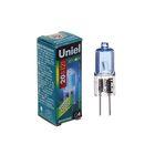 Лампа галогенная Uniel, G4, 20 Вт, 12 В, белый свет