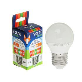 Лампа светодиодная Volpe, Е27, 6 Вт, свет белый