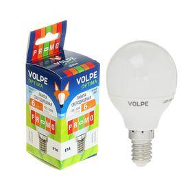 Лампа светодиодная Volpe, Е14, 6 Вт, свет белый