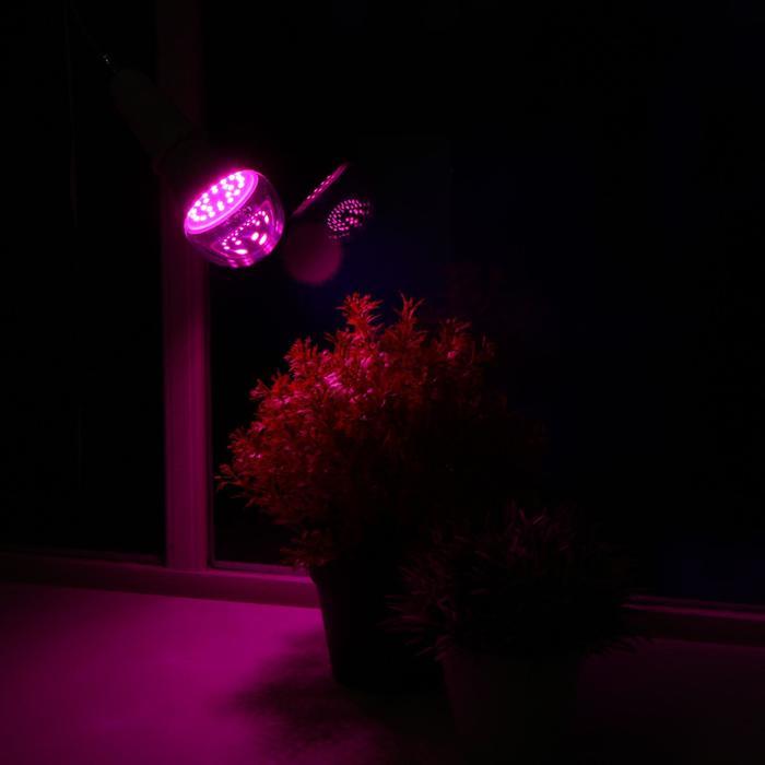 Лампа светодиодная Uniel, Е27, 9 Вт, для растений