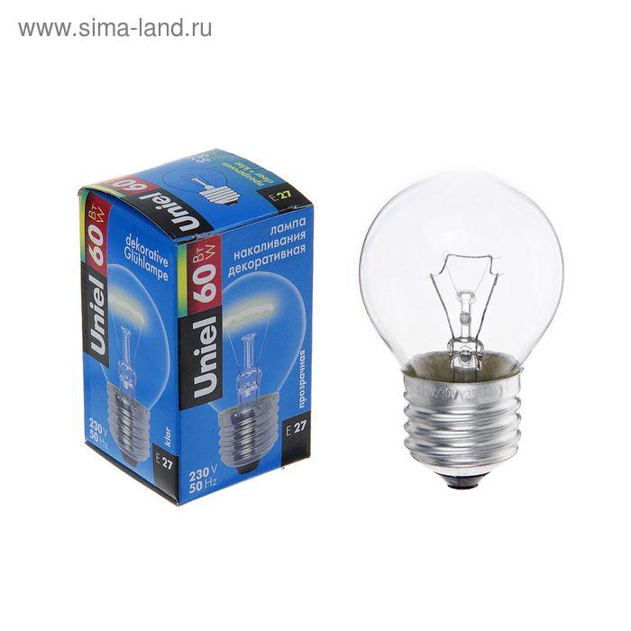 Лампа накаливания Uniel, Е27, 60 Вт, 230 В