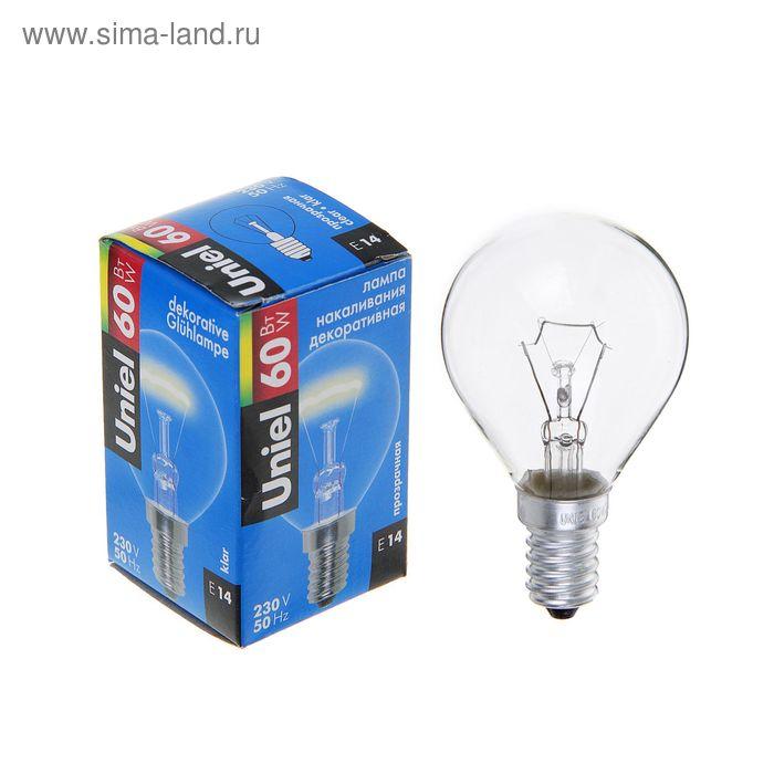 Лампа накаливания Uniel, Е14, 60 Вт, 230 В