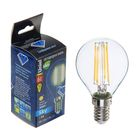 Лампа светодиодная Uniel, G45, 6 Вт, Е14, 220 В, 3000 К, свет тёплый белый