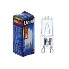 Лампа галогенная Uniel, G9, 60 Вт, 230 В, прозрачная