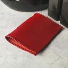 Обложка для паспорта, красная ящерица