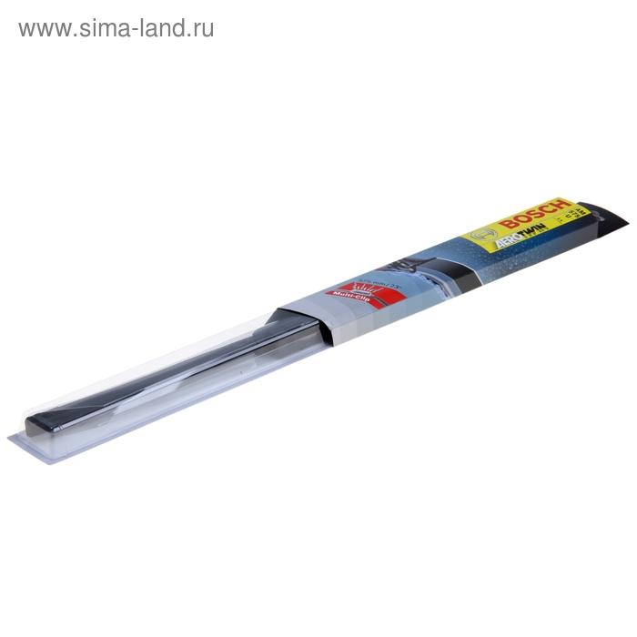 Щетка стеклоочистителя Bosch Aerotwin, 57,5см,  бескаркасная , мультикрепление