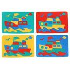 Мягкая мозаика «Пароходик», цвета МИКС
