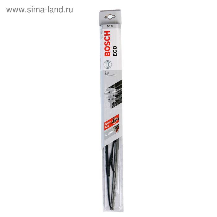 """Щётка стеклоочистителя Bosch Eco, 22""""/55 cм, каркасная, под крючок"""