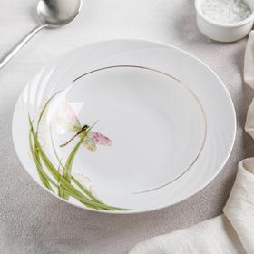 Тарелка глубокая «Стрекоза», 20 см, 230 мл