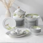 Сервиз столовый «Стрекоза», 37 предметов, 2 вида тарелок - фото 884340