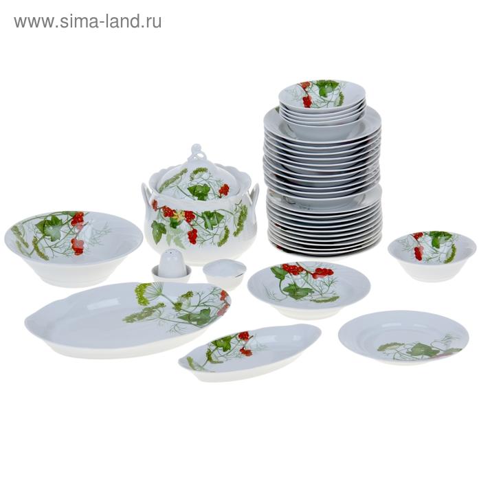 """Сервиз столовый 37 предметов 2 вида тарелок """"Садочек"""""""