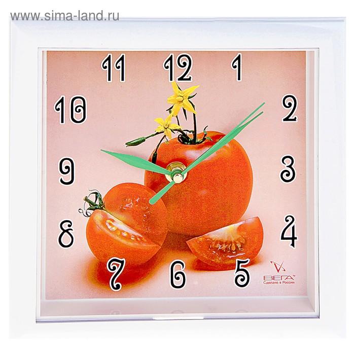 """Часы настенные квадратные """"Помидор"""", кухонные"""