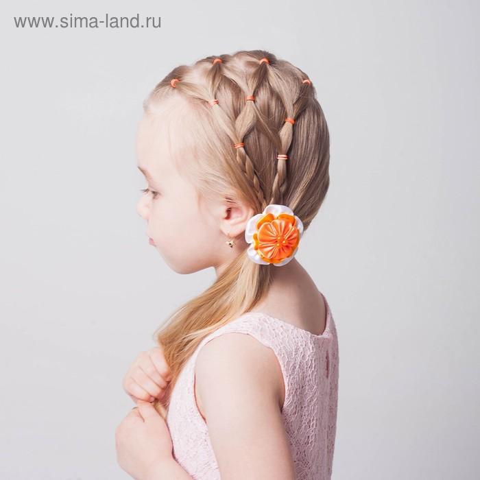 Набор резинок для волос, 200 шт., аромат цветов, цвет оранжевый