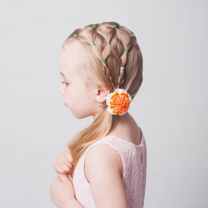 A set of rubber bands for hair, 200 PCs, the fragrance of flowers, color light green