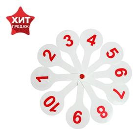 Касса «Веер», цифры от 1 до 20 прямой и обратный счёт