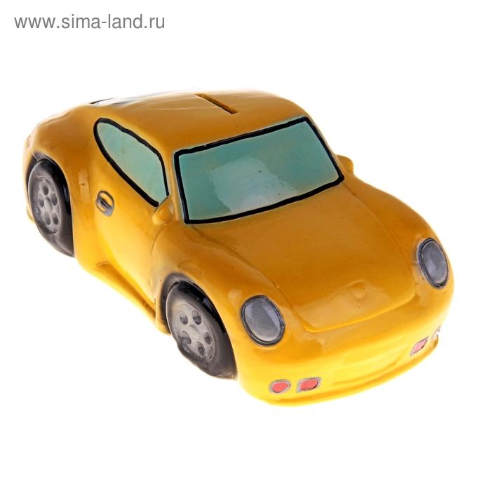 """Копилка """"Гоночная машина"""" жёлтая"""