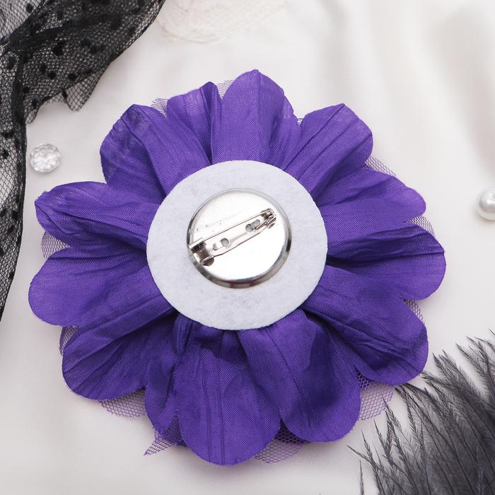 """Брошь """"Цветок дива"""" цвет фиолетовый"""