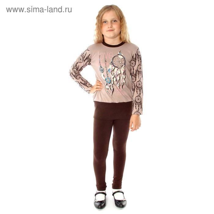 """Джемпер для девочки """"Ловец снов"""", рост 98 см (52), цвет светло-коричневый"""